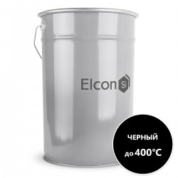 """Эмаль термостойкая КО-8101 черная (до 400 С) """"ELCON Max Therm"""", 25кг ЭЛКОН"""